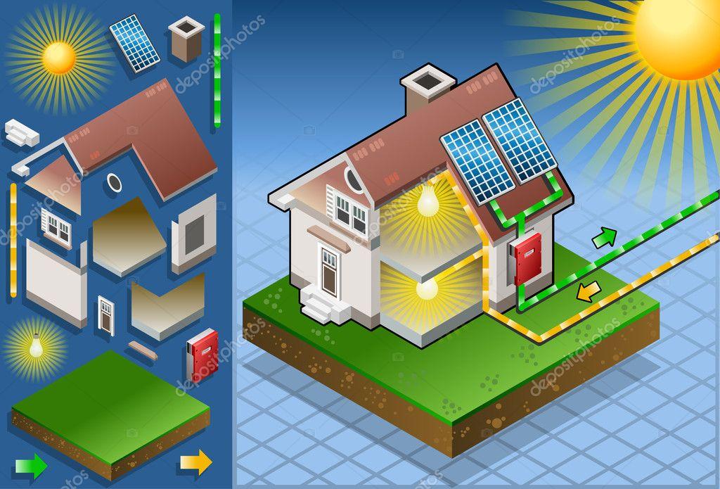 Maison isom trique avec panneau solaire image for Energie d une maison