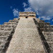 Up Kukulkan Pyramid Stairs Portrait — Stock Photo