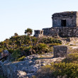 Mayan Ruins above the Ocean at Tulum — Stock Photo