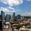 View from an Apartment Tower Across Miami Brickell - Stock Photo