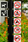 Singapore Roadsigns — Stock Photo