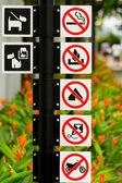 Singapore Roadsigns — Stock Photo