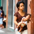 Teenage mothers/ Single moms in Asia — Stock Photo #10542274