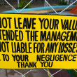 Stock Photo: Warning Sign