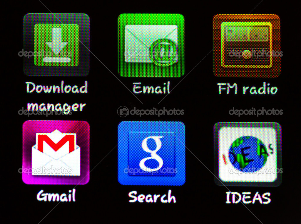 Application icons on iphone — Stock Photo #9617891