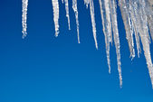 Icicles and Blue Sky — Foto Stock