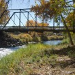 Black Bridge near Paonia, Colorado — Stock Photo #8348397