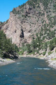 Gunnison River enters the Black Canyon — Стоковое фото