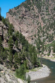 Gunnison River enters the Black Canyon — Stock Photo