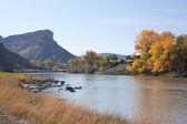 Autunno sul fiume colorado — Foto Stock