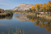 Mt. Garfield Reflected in Pond — Stock Photo