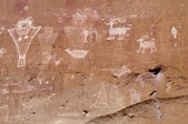 Petroglyphs from several periods — Stock fotografie