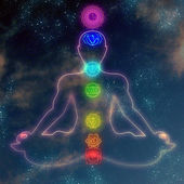 Human system of chakras — Stock Photo
