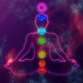 Human system of chakras — Stockfoto