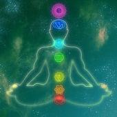 Human system of chakras — Stock Photo