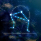 Libra constellation and symbol — Stock Photo