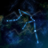 Aquarius constellation and symbol — Stock Photo