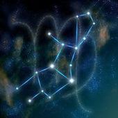 Virgo constellation and symbol — Stock Photo