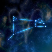 Aries constellation and symbol — Stock Photo
