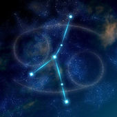 Cancer constellation and symbol — Stock Photo