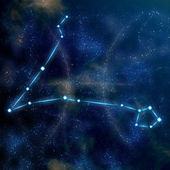 Pisces constellation and symbol — Stock Photo