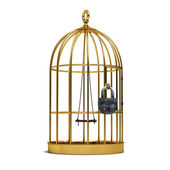 Cage for birds — Stock Photo