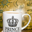 Prince charming cup of tea — Stock Photo