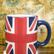 Union jack cup of tea — Stock Photo