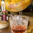 Whiskey on drinks globe — Stock Photo