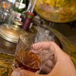 Whiskey on drinks globe — Stock Photo #10502822