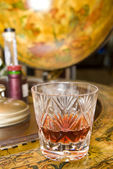 Whiskey on drinks globe — Stock Photo