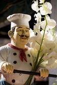 Italian chef statue — Stock Photo