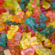 Gummy bear sweets background — Stock Photo
