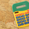 Royalty-Free Stock Photo: Calculator with map of America