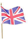 Union jack flag cutout — Stock Photo