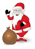 Smiling Santa Claus — Stock Vector