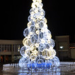 City Christmas Tree — Stok fotoğraf #8000808