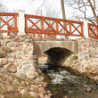 Bridge in the spring - Stock Photo