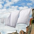 Clothes hanging out to dry — Stock Photo