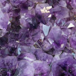 Mineral purple with reflective and sparkling gems — Stock Photo