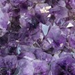 Stock Photo: Mineral purple with reflective and sparkling gems