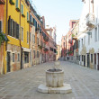 Wells, rainwater harvesting in Burano near Venice — Stock Photo