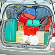 Baggage and luggage loaded — Stock Photo