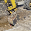 Scraper to work whole of roadworks during excavation — Stock Photo #10144877