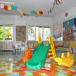 Stock Photo: Interior of playroom nursery kindergarten school
