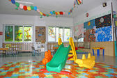 Interior of a playroom a nursery kindergarten school — Stock Photo