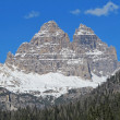 Stock Photo: Tre Cime di Lavaredo Misurinlake views in cadore in Italy