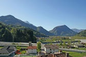 Panorama of the mountains of friuli venezia giulia from Cedarc — Stock Photo