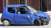 Car destroyed in a traffic accident — Stock Photo