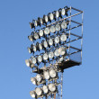 Impressive lighting tower for the Night-light in a stadium — Stock Photo #8621999